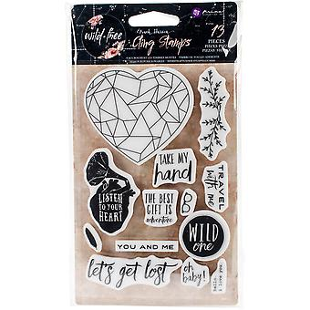 Wild & Free Cling Rubber Stamps 4