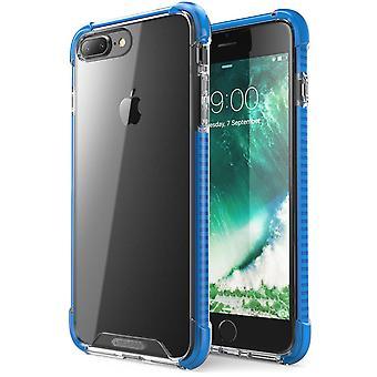 Jag-Blason-iPhone 7 Plus fall-stötsäker skyddande fall-blå