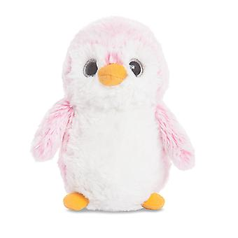 Aurora World Pompom Penguin Plush Toy (Pink)