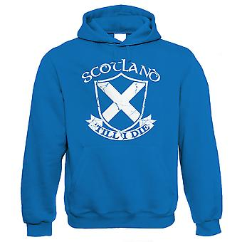 Schotland 'Till ik sterf, Mens patriottische Hoodie