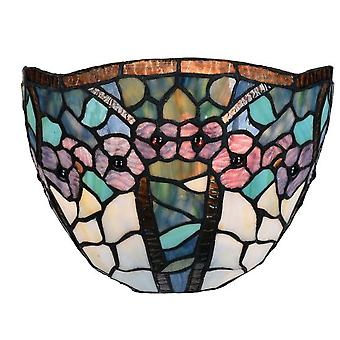 Sulion Aplique Tiffany 1xE27 25/20Cm Floral (Home , Lighting , Wall sconces)