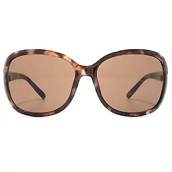M:UK Notting Hill Classic Wrap Sunglasses In Mink Brown Tortoiseshell