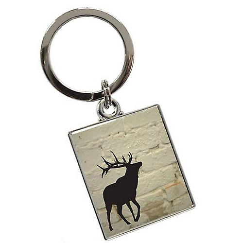 Tyler and Tyler Brick Stag Keyring - White
