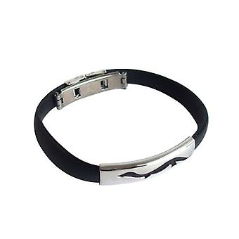 Bangles ladies men's bracelet black unisex bracelet stainless steel and PU