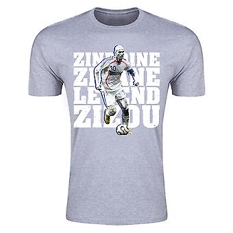 Zinedine Zidane France Legend T-Shirt (Grey) - Kids