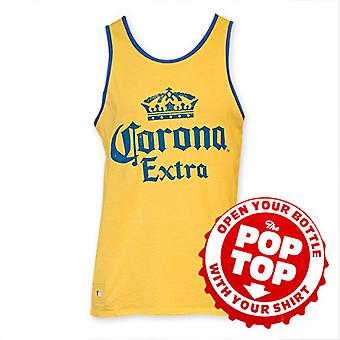 Corona ekstra mænds gul Pop Top Bottle Opener tanktop