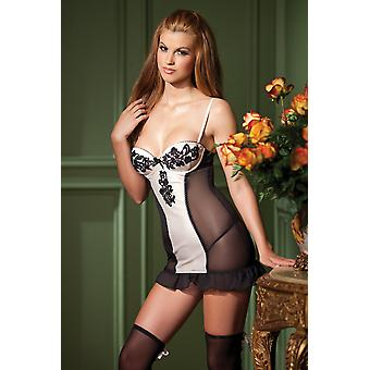 Be Wicked BW1356 1-Piece Cami Suspender with guipure lace detail
