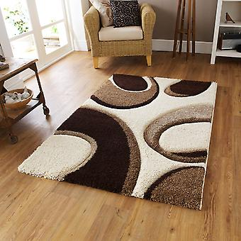 Mode schnitzen Teppiche 7648 In Elfenbein braun