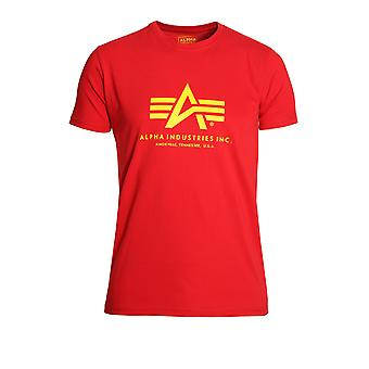 T-shirt cotone rosso base ALPHA INDUSTRIES