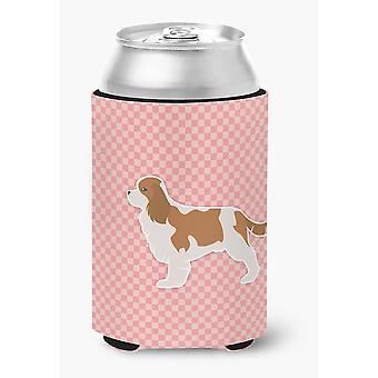 Кавалер Кинг Чарльз спаниель клетчатый розовый может или бутылка Hugger