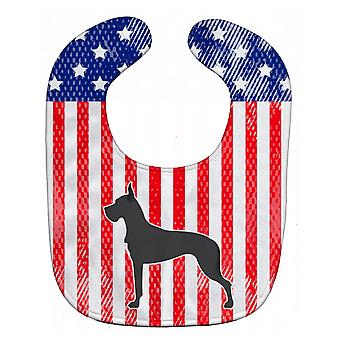 Carolines Treasures  BB3375BIB USA Patriotic Great Dane Baby Bib