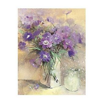 Vase of Lilac Flowers Poster Print by Peter McGowan (24 x 32)