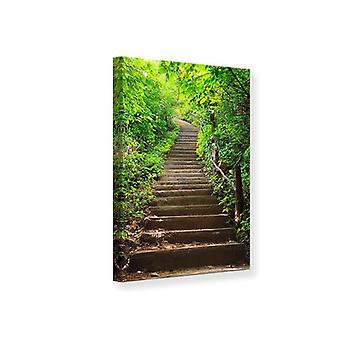Canvas Print houten trappen