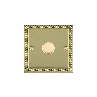 Hamilton Litestat Cheriton Georgian Polished Brass 1g 600W 2 Way Dimmer PB