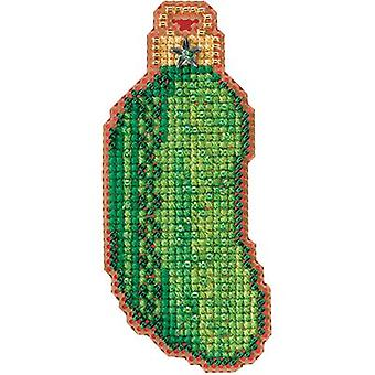 Christmas Pickle Counted Cross Stitch Kit-1.5