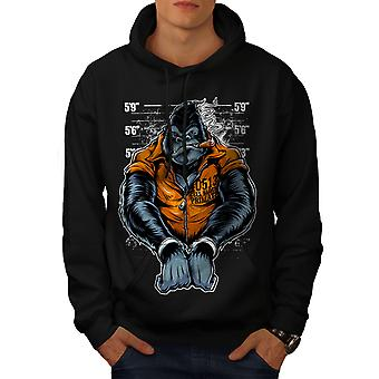 Monkey Ape Prison Men BlackHoodie | Wellcoda