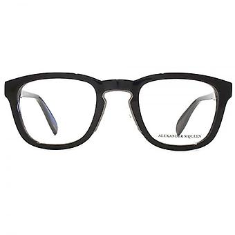 Alexander McQueen Edge AM0048 Glasses In Matte Black