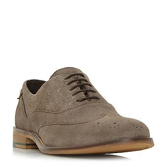 Chaussure dune Mens BARTRA Oxford Brogue Taupe