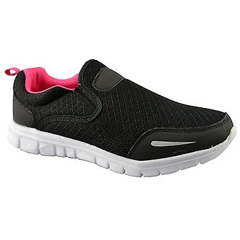 Ladies Womens New Slip On Casual Gym Running Jogger Trainers Shoes
