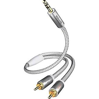 RCA / Jack Audio/phono Cable [2x RCA plug (phono) - 1x Jack plug 3.5 mm]