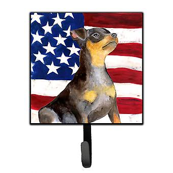 Miniature Pinscher #2 Patriotic Leash or Key Holder