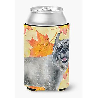 Carolines Treasures  BB9923CC Schnauzer Fall Can or Bottle Hugger