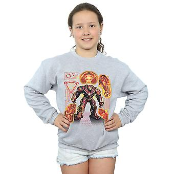 Avengers Girls Infinity War Hulkbuster Blueprint Sweatshirt