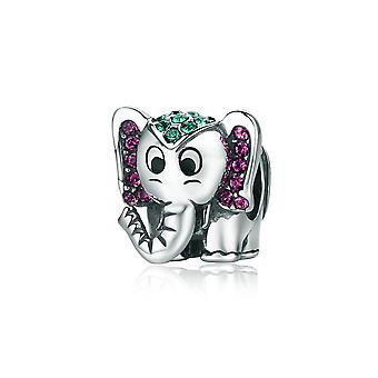 Sterling silver charm Happy elephant SCC200