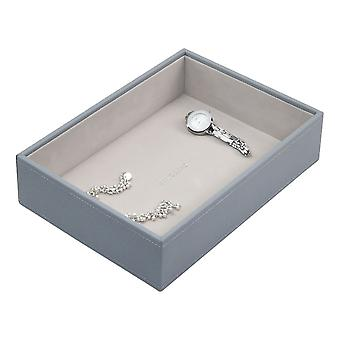 Stackers Dusky Blue Classic Deep Open Jewellery Tray