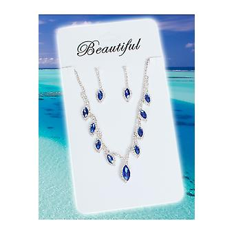 Jewelry and crowns  Jewels set Princess blue