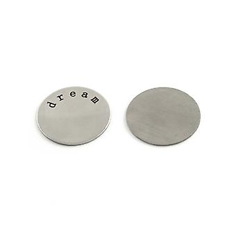 3 x Silver 201 Stainless Steel Flat Back 23mm Coin 1mm Thick Cabochon Y01005