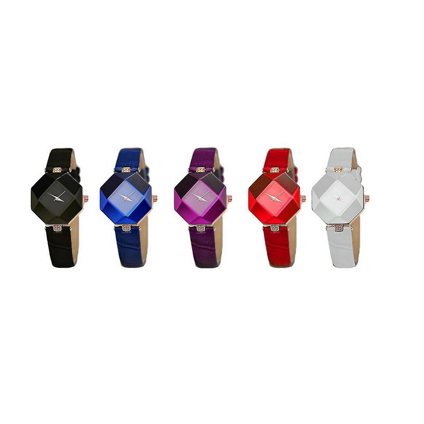 Smart Diamond Shape Watch White Jewel
