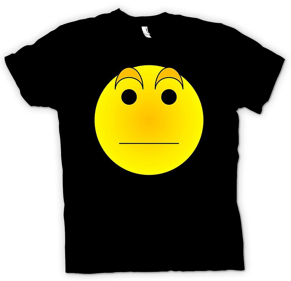 Mens T-shirt - Smiley Face - Eyebrows - Acid House