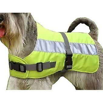 Flectalon Dog Jacket Hi-Viz 18 Inch or 45cm Yellow