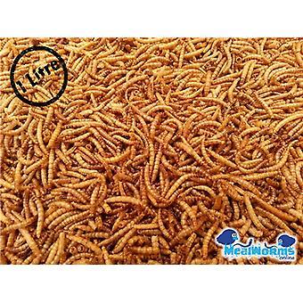 1 Liter Getrocknete Mehlwürmer für Geflügel