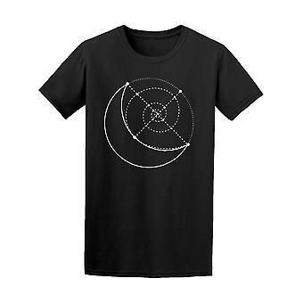 Moon Sacred Geometry Tee Men's -Image by Shutterstock