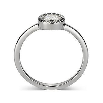 Forever Classic Round 4.5mm Moissanite Milgrain Fashion Ring, 0.33ct DEW