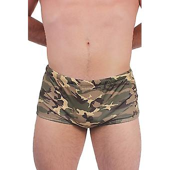 MEN'S ARMY GREEN CAMOFLAGE SWIMWEAR BRIEFS