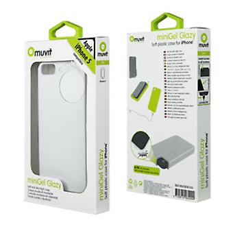 Muvit miniGel Glazy cover case for Apple iPhone 5 – white