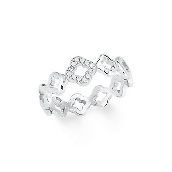 s.Oliver jewel ladies ring silver cubic zirconia flower 202103