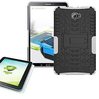 Hybrid outdoor bag white for Samsung Galaxy tab A 10.1 T580 + 0.4 tempered glass