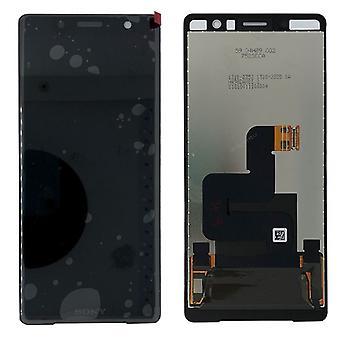 Sony Display LCD Komplett Einheit für Xperia XZ2 Compact H8314 / H8324 Schwarz Ersatzteil Neu