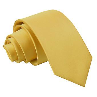 Corbata Slim Satén llano de oro