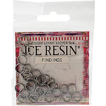 Ice Resin Findings 10Mm Jump Rings 30/Pkg-Antique Silver