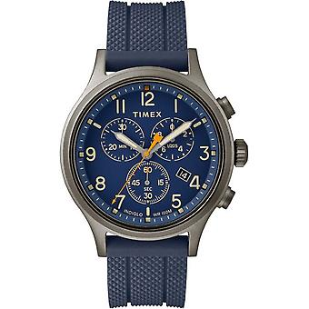 Męskie Timex zegarek chronograf alianckich 42 mm silikonowy pasek TW2R60300