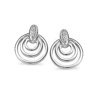 Orphelia sølv 925 ørering inderkredsen hvid Zirconium ZO-5022