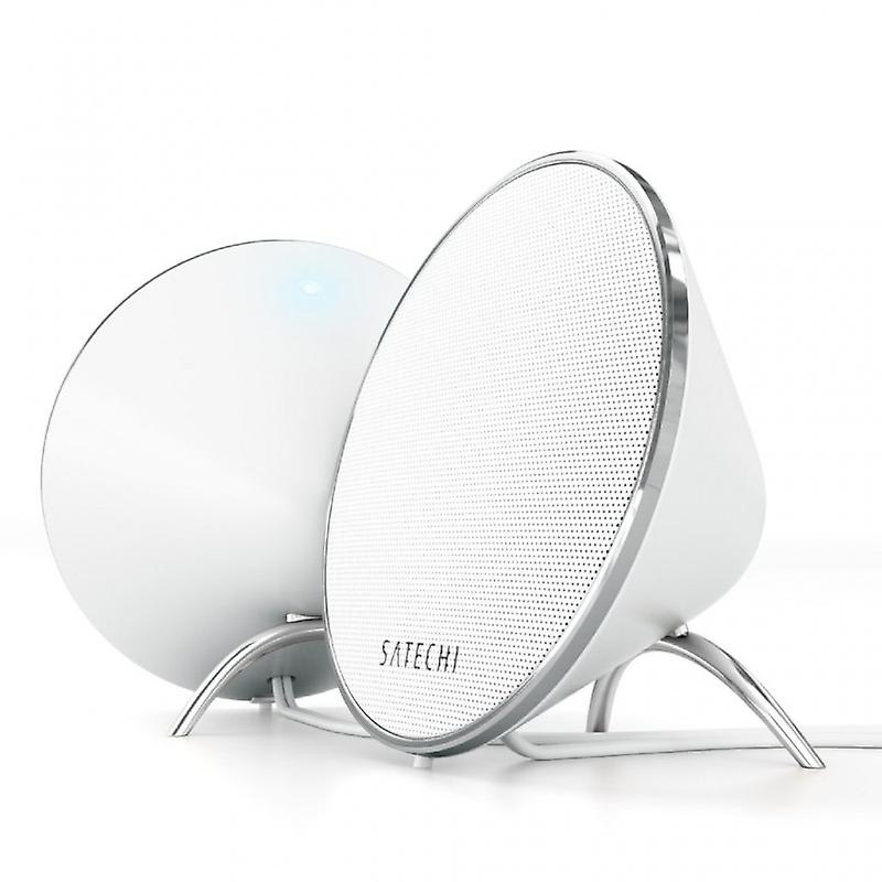 Satechi Dual Sonic Conical v 2.0 computer speakers, White-Black
