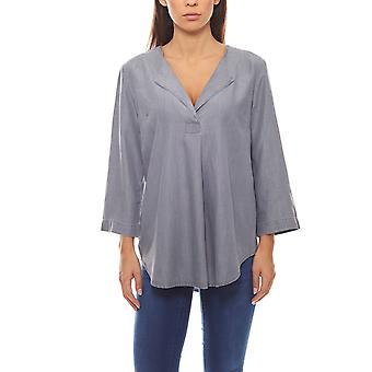 loose ladies casual blouse with jeans-look grey B.C.. best connections