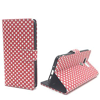 Mobile phone case pouch for cell phone LG G5 polka dot Red