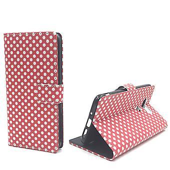 Handyhülle Tasche für Handy LG G5 Polka Dot Rot